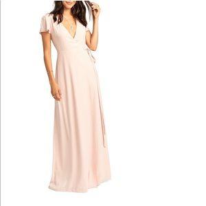 Show Me Your MuMu Dresses - NWT Show Me Your Mumu Noelle Wrapdress dusty blush